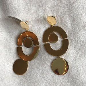 J. Crew Goldtone Statement Earrings NWT